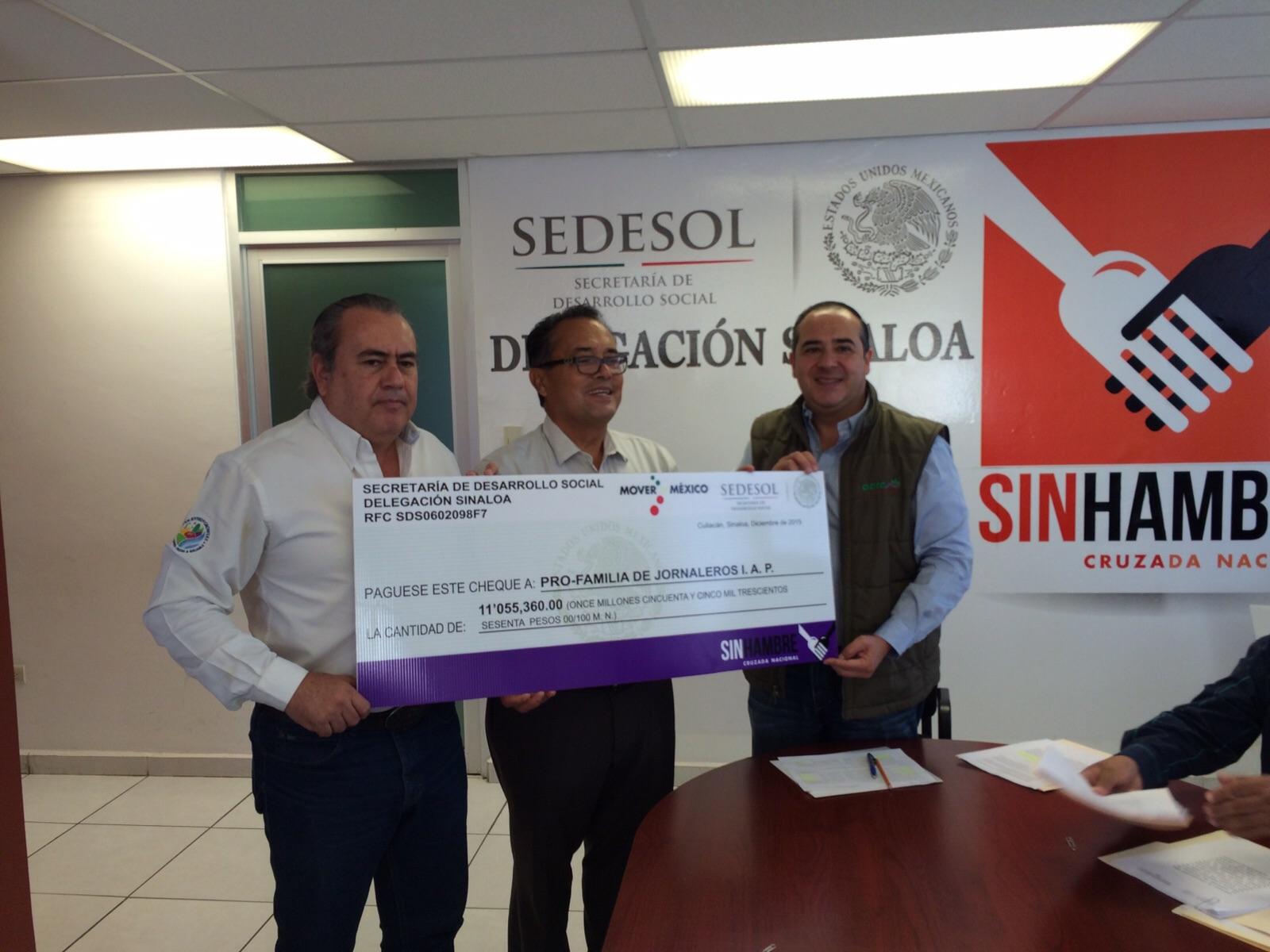 SEDESOL apoya a Profamilia de Jornaleros, I.A.P.