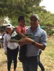 Personal de la AARC y Profamilia Festejando a los Niños del Campo Pantuli