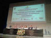 AARC participando como panelista en III Congreso Internacional sobre Sustentabilidad, Competitividad y Gestión en las Organizaciones. Universidad Autónoma de Sínaloa.