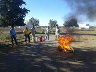 Capacitación en uso de Extinguidores contra Incendio a Personal AARC de Centro de Acopio