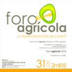 Foro Agrícola 31 de Octubre del 2018 Auditorio AARC cupo Limitado