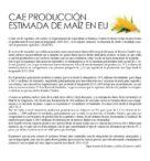Cae Producción Estimada de Maíz en EU